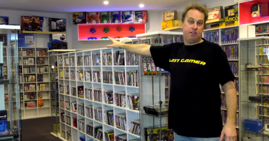 A photo of Last Gamer in one of his collection rooms
