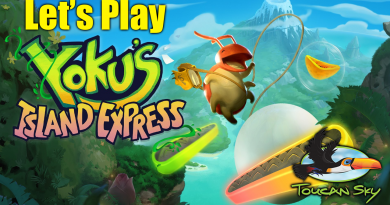 A title image saying Let's Play Yoku's Island Express